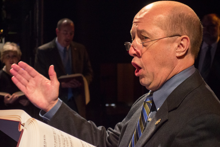 David Ivey performing with his Sacred Harp singers at the 2013 National Heritage Fellowship Concert, Washington, D.C., photograph by Michael G. Stewart