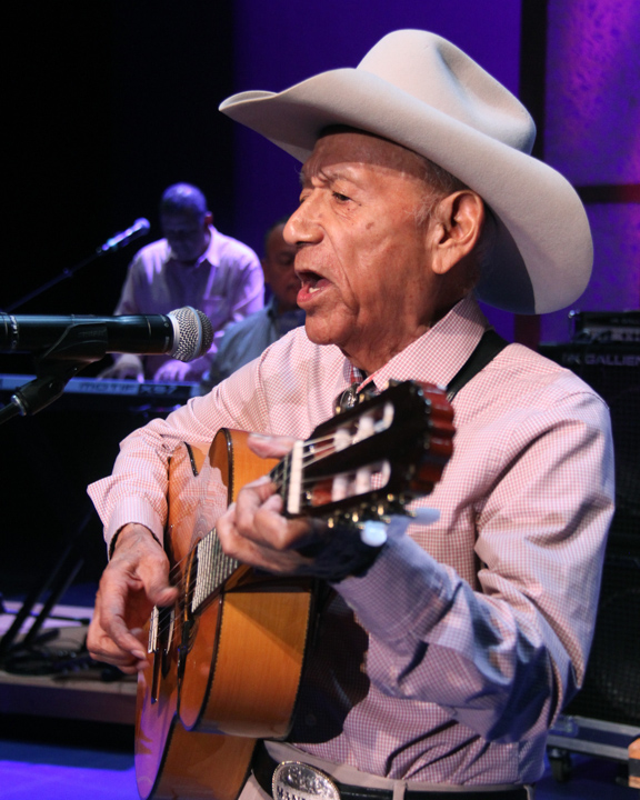"Manuel ""Cowboy"" Donley performing at the 2014 National Heritage Fellowship Concert, Washington, D.C., photograph by Michael G. Stewart"
