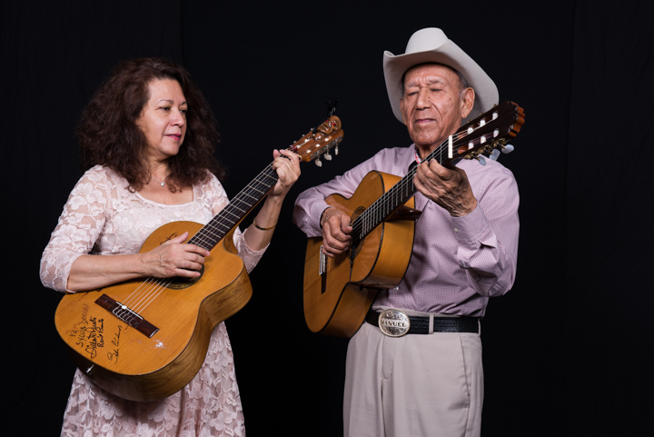 "Manuel ""Cowboy"" Donley with his daughter Sylvia, Washington, D.C., 2014, photograph by Alan Govenar"