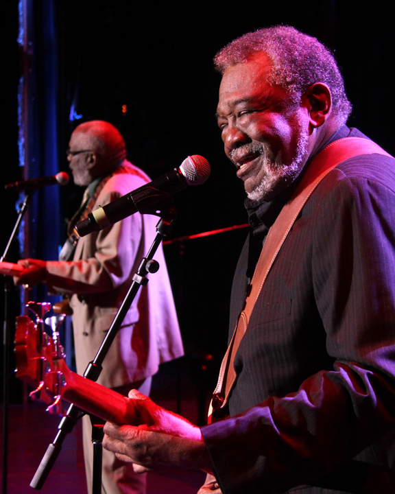 Wendell and Sherman Holmes performing at the 2014 National Heritage Fellowship Concert, Washington, D.C., photograph by Michael G. Stewart