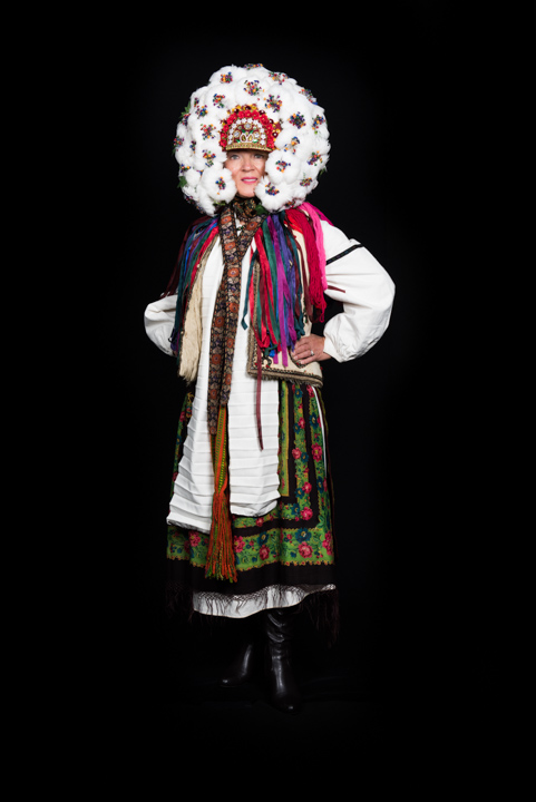 Antonia models her sister Vera Nakonechny's costume, Washington, D.C., 2014, photograph by Alan Govenar