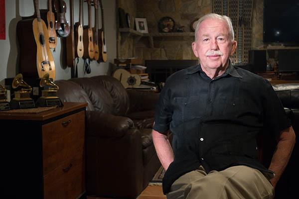Daniel Sheehy at his home in Falls Church, VA, Photograph by Alan Govenar, 2015.