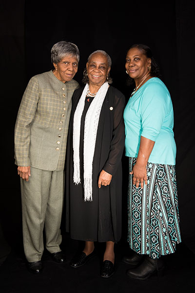 Lucy Mingo, Mary Lee Bendolph and Claudine Pettway, Washington, D.C., 2015, Photograph by Alan Govenar.