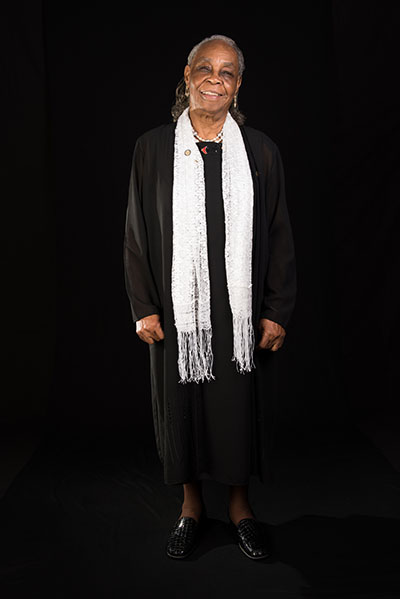 Mary Lee Bendolph, Washington, D.C., 2015, Photograph by Alan Govenar.