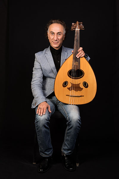 Rahim AlHaj, Washington, D.C., 2015, photograph by Alan Govenar.
