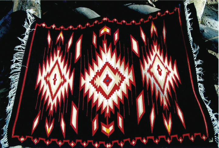 Weaving by Eppie Archuleta, courtesy Ruben Archuleta  