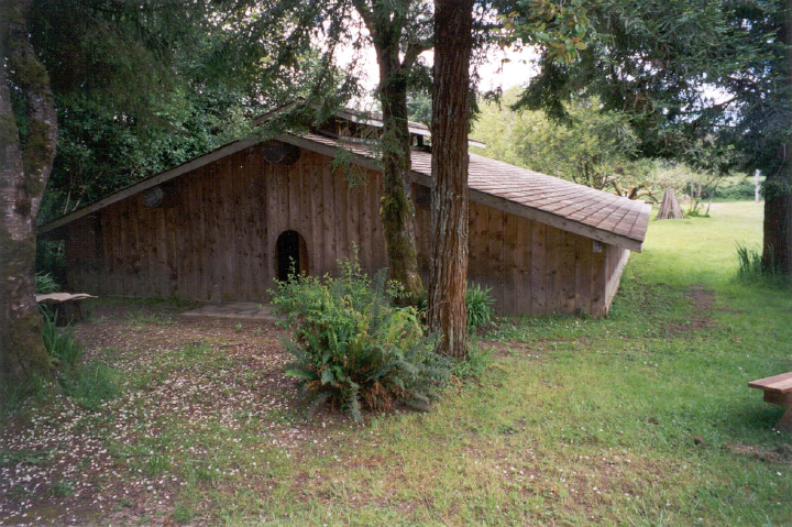 Ceremonial Dance House built by Loren Bommelyn, courtesy Loren Bommelyn