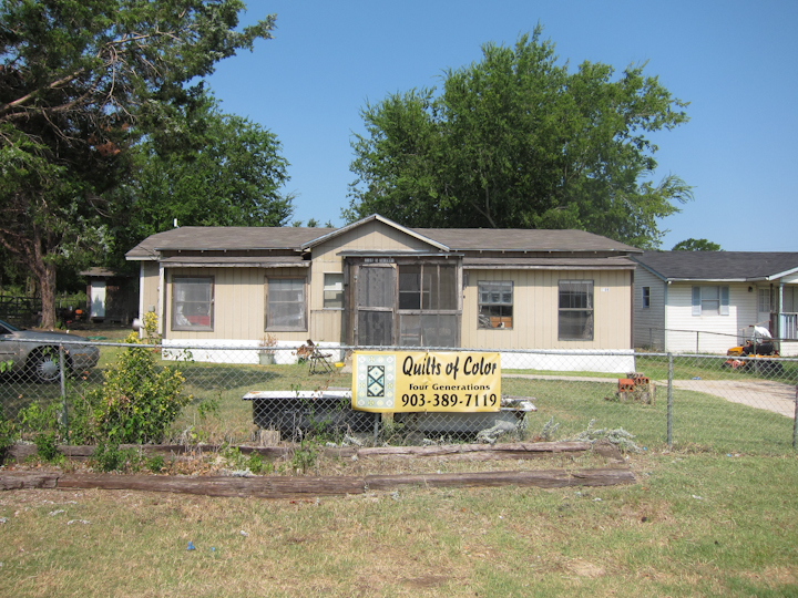 Laverne Brackens' house, Fairfield, Texas, July 6, 2011, photograph by Alan Govenar