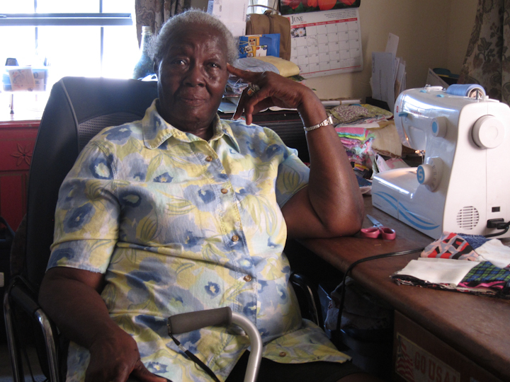 Laverne Brackens, Fairfield, Texas, July 6, 2011, photograph by Alan Govenar