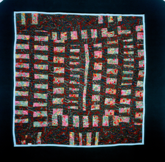 Laverne Brackens, 'Floral Bars Quilt,' photograph by Eli Leon, courtesy National Endowment for the Arts