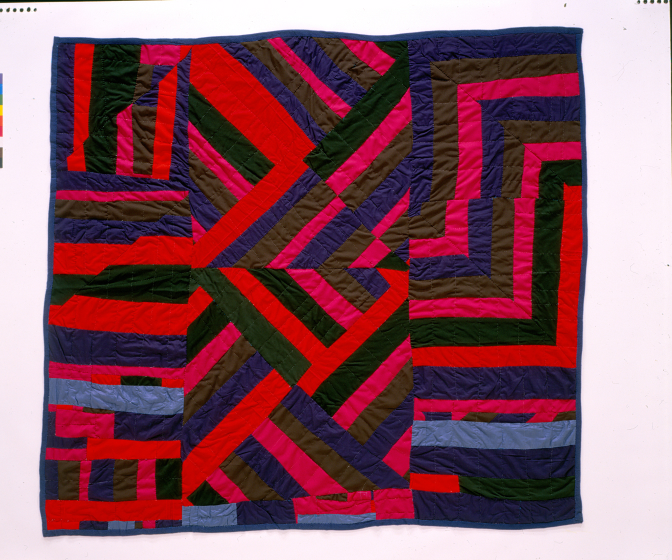 Laverne Brackens, 'Restructed Block Quilt,' 1992, photograph by Eli Leon, courtesy National Endowment for the Arts
