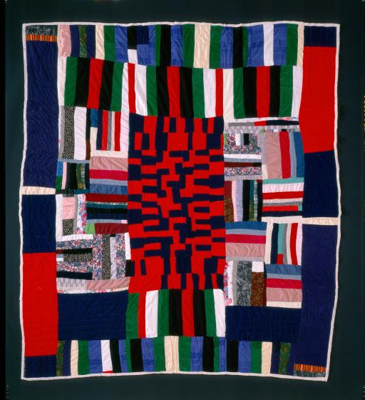 Laverne Brackens, 'Roman Stripe Medallion Quilt,' photograph by Eli Leon, courtesy National Endowment for the Arts