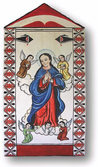 Nuestra Señora de la Asunción de Zia, retablo by Charles Carrillo, photograph by Awalt/Rhetts, courtesy LPD Press and <www.nmsantos.com>