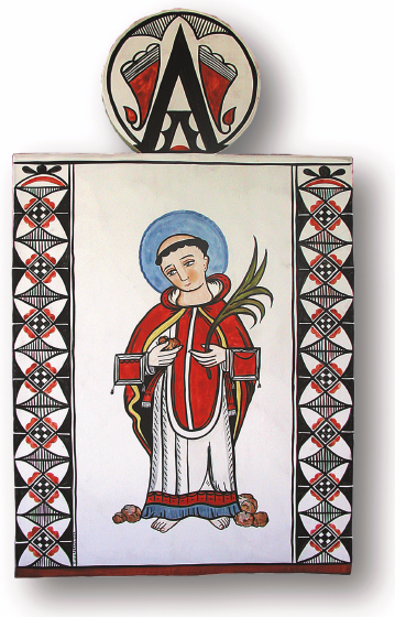 San Estéban de Ácoma, retablo by Charles Carrillo, photograph by Awalt/Rhetts, courtesy LPD Press and <www.nmsantos.com>