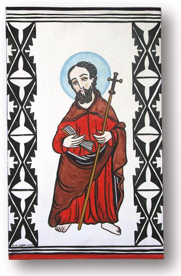 San Felipe retablo by Charles Carrillo, photograph by Awalt/Rhetts, courtesy LPD Press and <www.nmsantos.com>