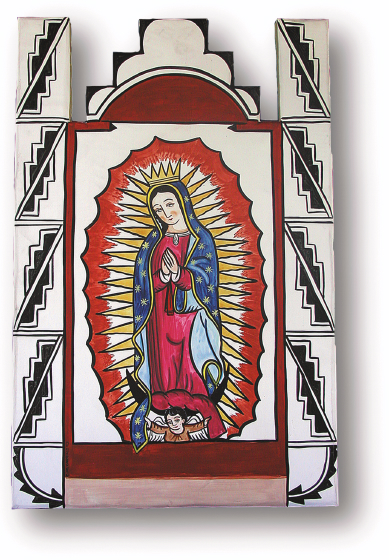 Nuestra Señora de Guadalupe de Pojoaque, retablo by Charles Carrillo, photograph by Awalt/Rhetts, courtesy LPD Press and <www.nmsantos.com>