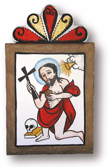 San Gerónimo de Taos, retablo by Charles Carrillo, photograph by Awalt/Rhetts, courtesy LPD Press and <www.nmsantos.com>