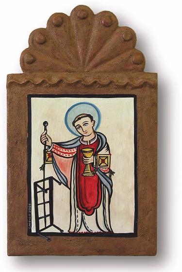 San Lorenzo de Picurís, retablo by Charles Carrillo, photograph by Awalt/Rhetts, courtesy LPD Press and <www.nmsantos.com>