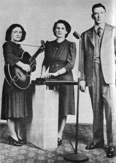 The Carter Family (left to right, Sara Carter, Maybelle Carter and A.P. Carter), courtesy National Endowment for the Arts