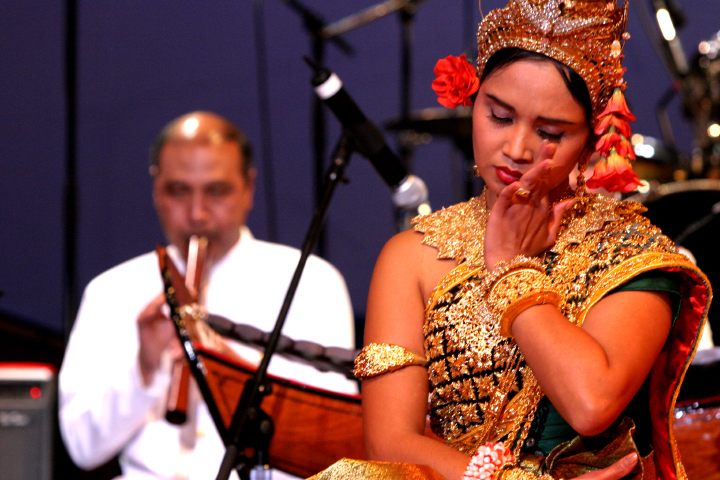 Performance directed by Chum Ngek, 2004 National Heritage Fellowship Concert, Washington, D.C., Photograph by Michael G. Stewart, Courtesy National Endowment for the Arts