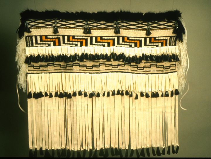 Haida/Tlingit weaving by Delores Churchill, courtesy Delores Churchill