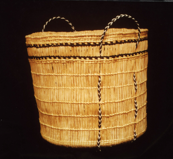 Seaweed basket by Delores Churchill. Courtesy Delores Churchill