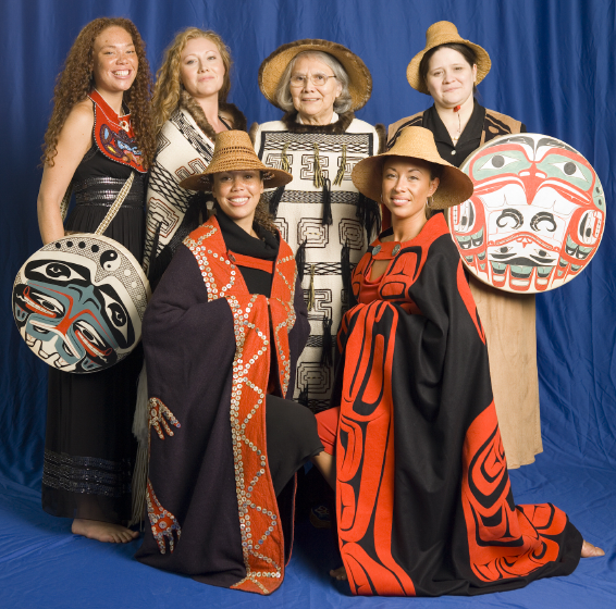 (front left to right) Carrie Anne Vanderhoop, Teresa Varnell (rear), Tiffany Vanderhoop, Paula Varnell, Delores Churchill and Gloria  Burns, Bethesda, Maryland, 2006, photograph by Alan Govenar