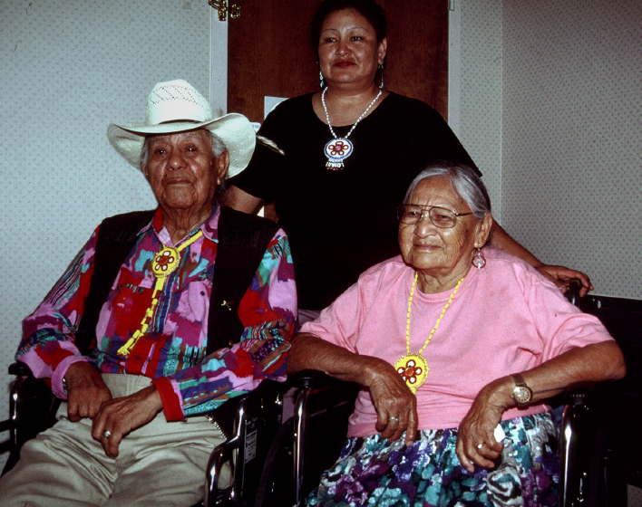 Francis and Rose Cree with their daughter Brenda Cree, Arlington, Virginia, 2002, photograph by Alan Govenar