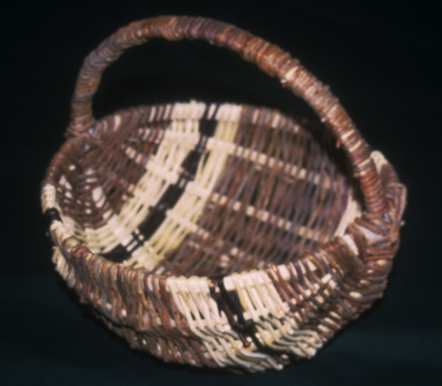 Basket by Rose Cree, Turtle Mountain Indian Reservation, North Dakota, courtesy North Dakota Council on the Arts