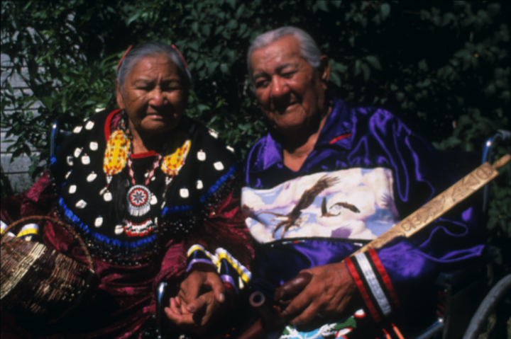 Rose and Francis Cree, Turtle Mountain Indian Reservation, North Dakota, photograph by Troyd Geist, courtesy of North Dakota Council on the Arts