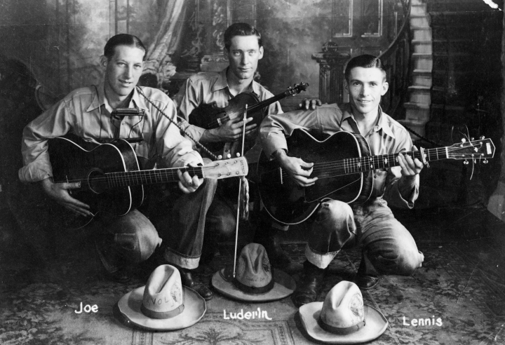 From left: Joe Werner, Luderin Darbone and Lennis Sonnier, courtesy Luderin Darbone