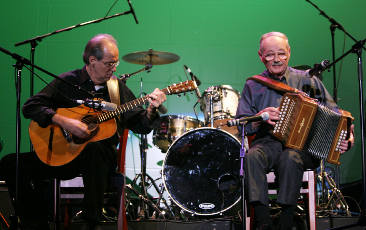 Joe Derrane (right). 2004 National Heritage Fellowship Concert, Washington, D.C., photograph by Michael G. Stewart, courtesy National Endowment for the Arts