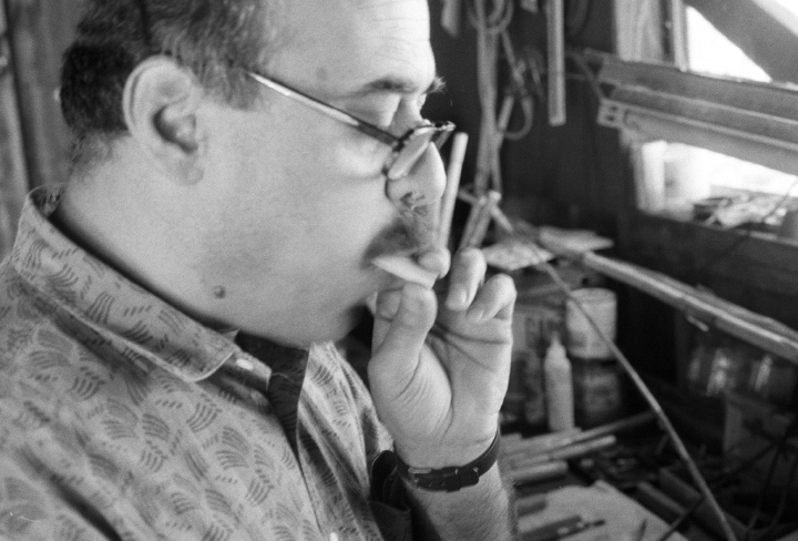 Nadim Dlaikan at work, courtesy Michigan Traditional Arts Program, Michigan State University Museum