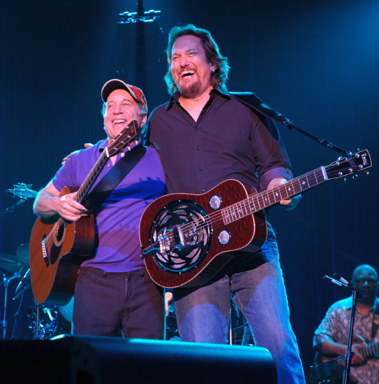 Jerry Douglas with Paul Simon, publicity photo, courtesy Jerry Douglas  