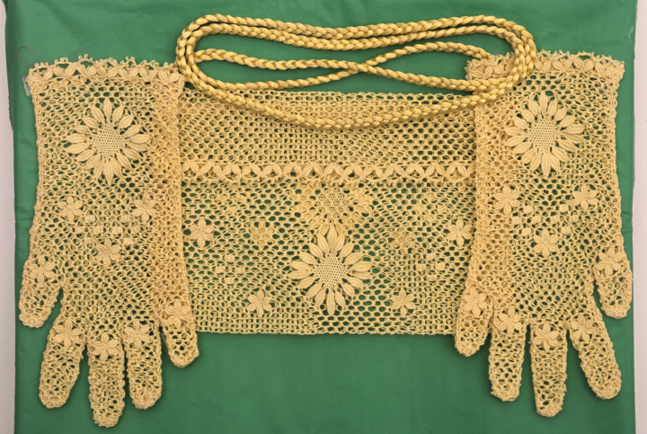Rosa Elena Egipciaco, glove and purse set, courtesy National Endowment for the Arts