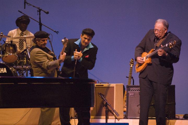 Henry Gray band, 2006 National Heritage Fellowship Concert, Strathmore Music Center, Bethesda, Maryland, photograph by Alan Hatchett
