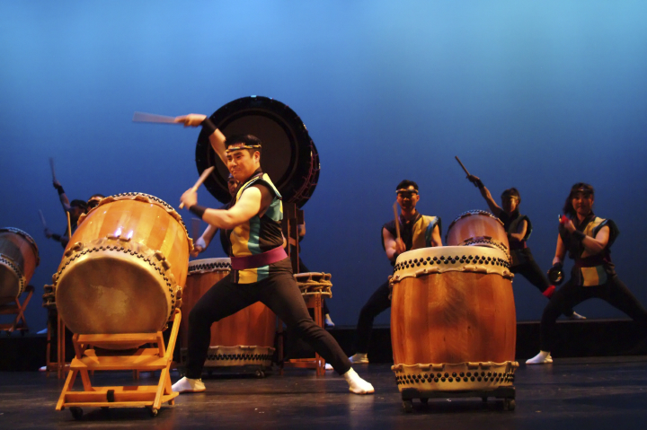 San Jose Taiko, photograph by John Brennan, courtesy Roy and PJ Hirabayashi