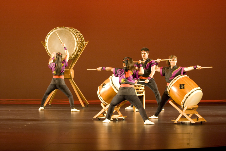 San Jose Taiko, featuring Roy and PJ Hirabayashi, photograph by John Brown, courtesy Roy and PJ Hirabayashi