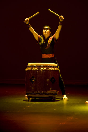 San Jose Taiko, photograph by John Brown, courtesy Roy and PJ Hirabayashi