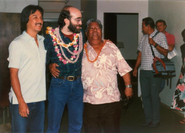 George Kuo, George Winston, Raymond Kane, Ed Lee, 1988, courtesy Raymond Kane