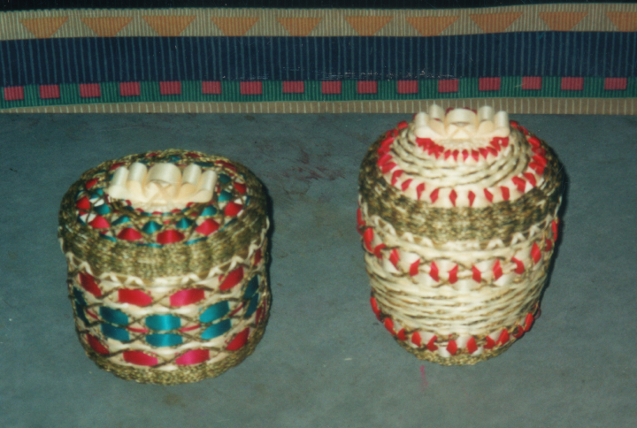 Baskets by Clara Neptune Keezer, courtesy Clara Neptune Keezer