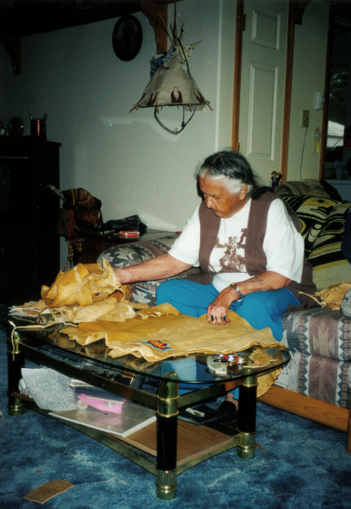 Agnes 'Oshanee' Kenmille at work, Courtesy National Endowment for the Arts