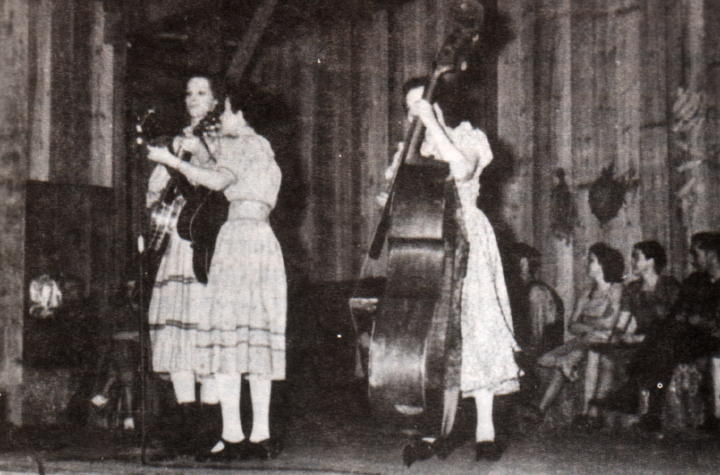 Lilly May (left) and The Coon Creek Girls at the *Renfro Valley Barn Dance*, courtesy Berea College Appalachian Center