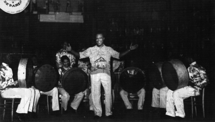 Elliot Mannette (third from left) performing in Trinidad, courtesy Mannette/George Private Archival Collection