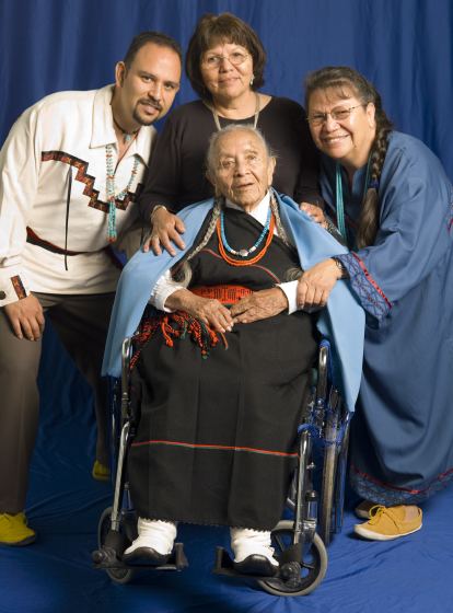 From left: Matthew J. Martinez, Esther Martinez, Marie Sanchez and Josephine Binford, Bethesda, Maryland, 2006, photograph by Alan Govenar