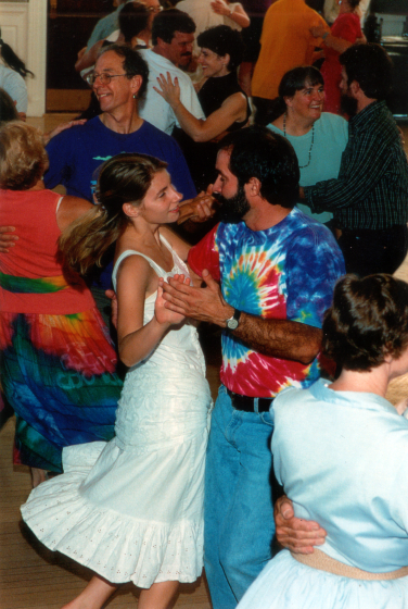 Contra dance, Peterborough Town House, October 1, 2002, photograph by Marilyn Weir, courtesy Bob McQuillen