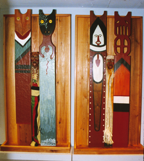 Totems by Gerald Bruce 'Subiyay' Miller, photograph by Karen James, courtesy National Endowment for the Arts