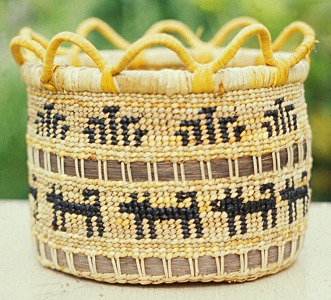 Basket hand-crafted by Bruce 'Subiyay' Miller, courtesy National Endowment for the Arts