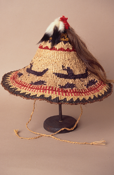 Traditional Skokomish weaving by Gerald Bruce 'Subiyay' Miller, courtesy National Endowment for the Arts