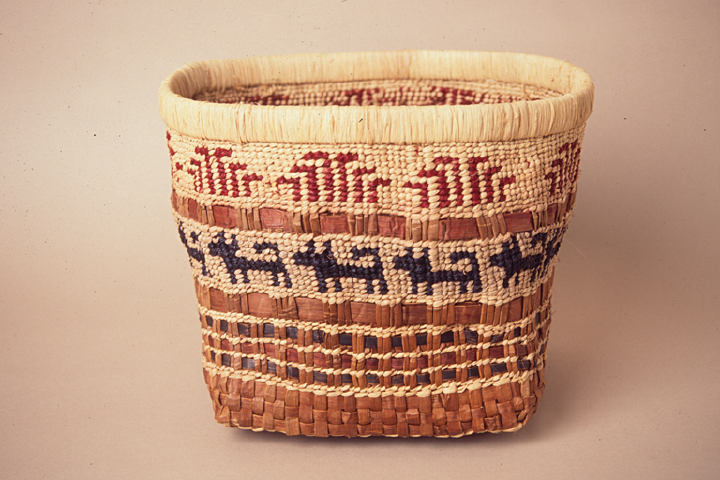 Basket hand-crafted by Gerald Bruce 'Subiyay' Miller, courtesy National Endowment for the Arts